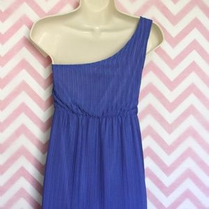 Judith March Dresses - Judith March Blue One Shoulder Dress Size M